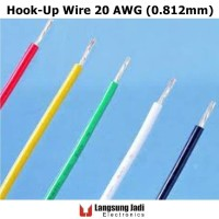 20 AWG PVC Tin Plated Copper Hook-Up Wire kabel serabut tembaga silver