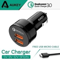 AUKEY CC-T8 FAST CAR CHARGER WITH DUAL QUICK CHARGE 3.0