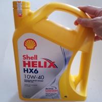 Oli Mesin Shell Helix HX6 / HX 6 SAE 10W 40 Galon 4 Lt Original