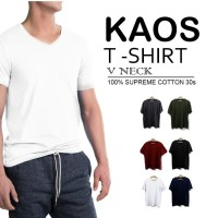 Kaos Polos | Basic Tee | T Shirt | V-NECK SUPREME COTTON 30S |SLIM FIT