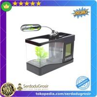 Terlaris EECOO USB Desktop Aquarium Mini Fish Tank with Running