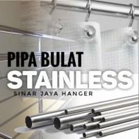 Pipa Besi Bulat Stainless 100cm / Gantungan baju display