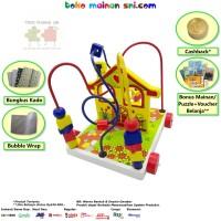 Mainan Kayu Edukatif Alur Kawat 3 Rumah Kelinci Edukasi Anak 2-3 Tahun