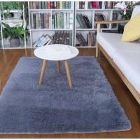 Karpet Bulu Ukuran 150x100cm Tebal 2cm + Alas Bintik Super ( Abu-Abu )