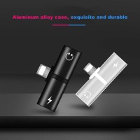 2 In 1 Adapter IPhone 7 8 Plus X Lightning Earphone Aksesoris Audio