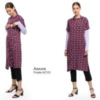 Justmom Baju menyusui AZZURA Purple pattern AZ103