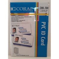 Kertas PVC Bahan ID Card Instan Coral A4 isi 5 Lembar Merk Coral