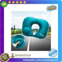 Promo Romix Bantal Leher Travel Inflatable Neck Pillow - RH34 Keren