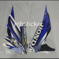 stiker striping stripping motor honda supra x 125 2008 lis hitam biru