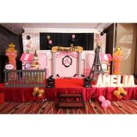 Dekorasi ulang tahun/sweet 17/ eiffel theme/patung eiffel