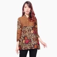 Atasan Kemeja Ofvy Blouse Lengan Panjang Batik Modern Wanita