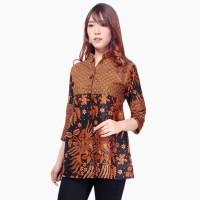 Atasan Kemeja Quita Blouse Lengan Panjang Batik Modern Wanita