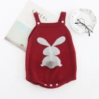 Knitted baby romper baby girl jumper bayi rajut baju bayi rajut rabbit