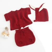 Knitted baby romper baby girl jumper bayi rajut baju newborn 3 in 1
