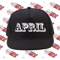 Topi snapback Cotton Bulan April Month Simple