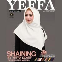 Jilbab Segi Empat SHAINING WHITE By Yeffa - Hijab Kerudung POLOS