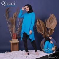 Qirani turkish biru Baju Menyusui Atasan Tunik Kaos Ibu Hamil Busui