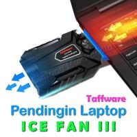 Pendingin Laptop Taffware ICE FAN 3 Vacuum Cooler Kipas Penyedot Panas