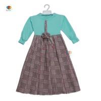 Gamis Farissa 4-6 Tahun / Baju Anak Muslim Long Dress Panjang Ngaji - Lengan TERUMPET