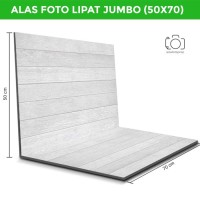 Alas Foto Lipat Jumbo Kayu 70x50 cm / Background foto lipat (WLJ-01)