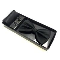 dasi kupu set gift box manset cufflinks dan pocket square distributor