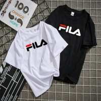 Fila Kaos T-Shirt Lengan Pendek Warna Polos