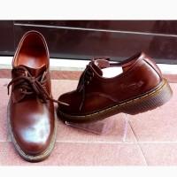 Sepatu Docmart Pria Low Boots Kulit Asli Warna Cokelat