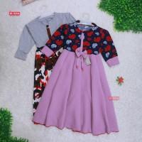 Gamis Farissa 4-6 Tahun / Baju Anak Muslim Long Dress Panjang Ngaji