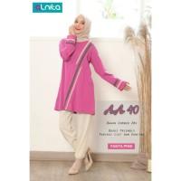 BAJU ATASAN Kaos Wanita Muslimah Lengan Panjang AA 40 ORI Alnita