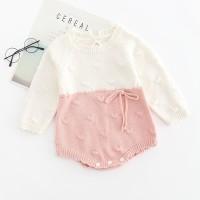 Knitted baby romper baby girl jumper bayi rajut baju bayi rajut 2tone