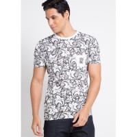 Sharks - Floral Pocket Tshirt - Putih [SGB144125433]