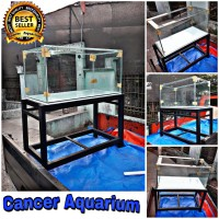 Aquarium & Rak Besi Hollo 4x6 Ukuran 100x50x50 Full 8MM + 1 triplek 8M