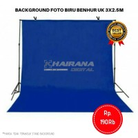 Kain Background Backdrop latar alas Studio Foto 3x2.5m biru benhur