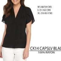 SALE Baju Branded Wanita Blouse Merk Calvin Klein Black and Salem