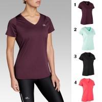 KALENJI Kaos Run Dry Wanita / Baju Running Wanita Baju Olahraga ORIGIN