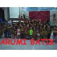 Seragam Batik Anak Laki Perempuan Balita SD KB TK PAUD Playgroup - sample kain