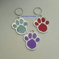 Pet Tag/ Bandul Liontin Paw Kalung anjing kucing - stainless steel