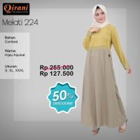 Qirani Dewasa Melati 224 | Baju Perempuan Wanita Muslim Gamis Dress.
