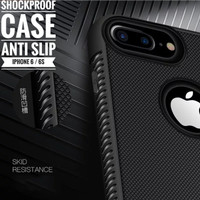 iPhone 6 6S 6G Case Shockproof Anti Slip Slim Black Matte Softcase