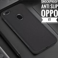 Oppo F7 Case Shockproof Anti Slip Slim Black Matte Softcase Back Matte