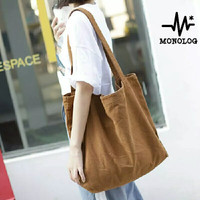 MONOLOG 45x45x6 PREMIUM Large Canvas Tote bag Shopping Tas Kanvas Big