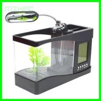 Aquarium Ikan Cupang USB Mini Desktop Fish Tank Running Water