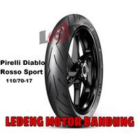 Pirelli 110/70-17 Diablo Rosso Sport Front Ban Tubeless Depan Motor