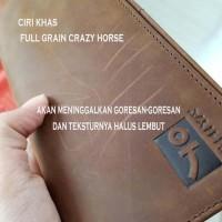 Dompet kulit asli panjang pria vintage -Dompet ISHIYA KENAN-
