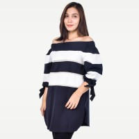 SEYES V7720 Tumblr Tee Baju Wanita Lengan Pendek Katun Premium Hitam