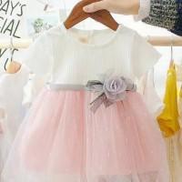 Party Dress Baby Girl Baju Import Pink - Size XXL