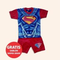 Baju Anak Superman Superhero Gratis Sablon Nama