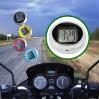 Dekorasi Jam Motor Digital Time Watch Tempel Mini Anti Air Speedometer