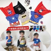 baju kaos kostum superman batman cape lucu impor anak laki laki murah