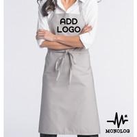MONOLOG [CUSTOM] Full Apron Drill Celemek Kitchen Barista Unisex